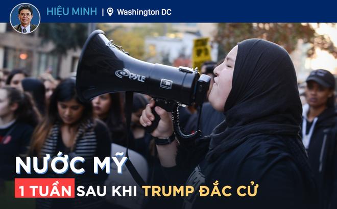 Người Mỹ biểu tình ở Washington DC phản đối Tổng thống đắc cử Trump