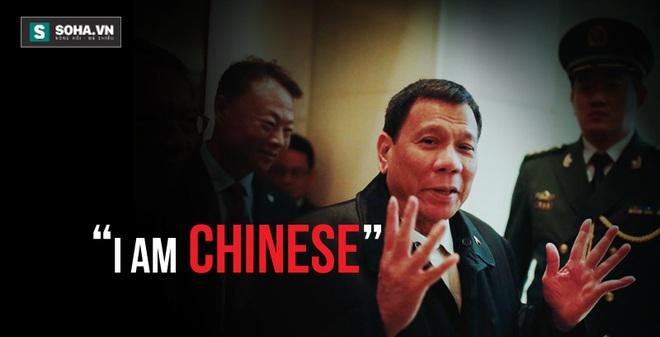 Tổng thống Philippines Rodrigo Duterte tại Bắc Kinh. Ảnh: Reuters.