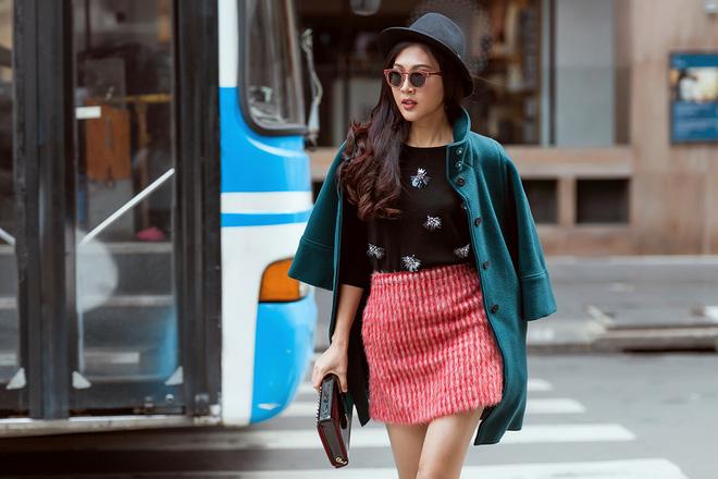 Diệu Ngọc nổi bật với phong cách street style  - Ảnh 12.