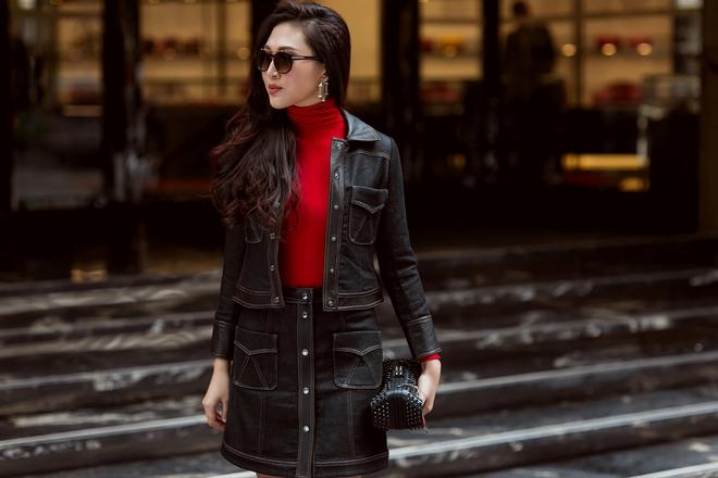 Diệu Ngọc nổi bật với phong cách street style  - Ảnh 11.