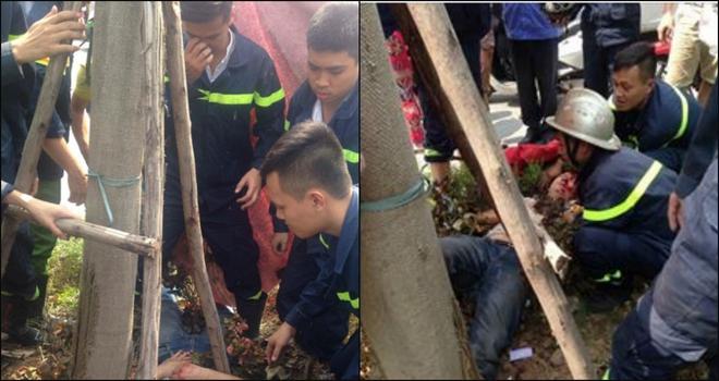 Hành động tuyệt vời của những người lính cứu hỏa giữa phố Hà Nội - Ảnh 1.