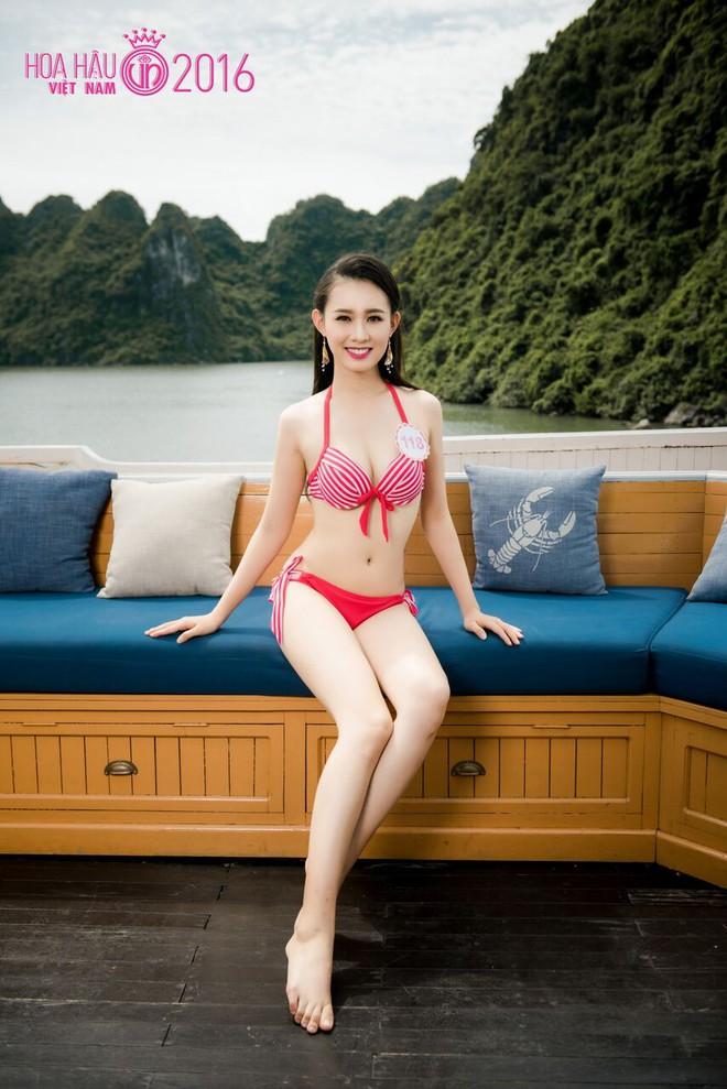 Nóng bỏng ảnh bikini các thí sinh đẹp nhất Hoa hậu VN 2016 - Ảnh 7.