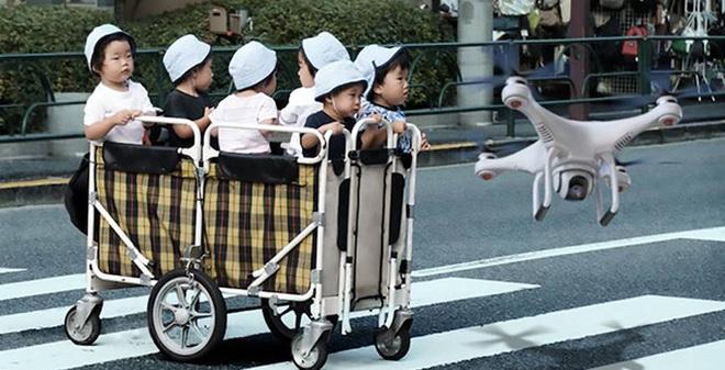 Nhật Bản: Máy bay Drone sẽ giúp phụ huynh đưa trẻ em đi học vào mùa Hè này