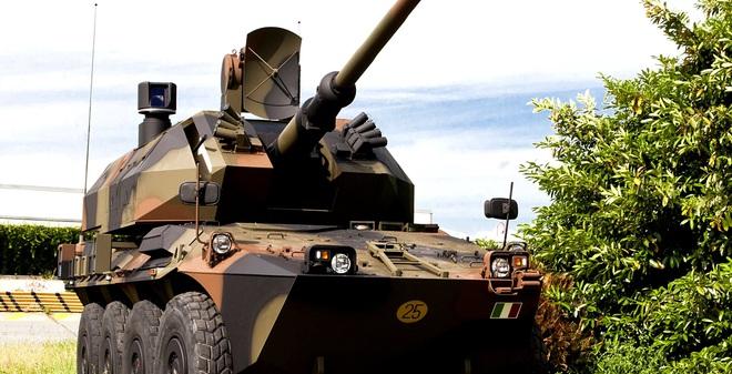 Khi pháo hạm OTO Melara 76 mm được đưa lên... xe thiết giáp