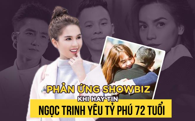 """Cả showbiz Việt """"bàng hoàng"""" nghe tin Ngọc Trinh yêu tỷ phú 72 tuổi"""