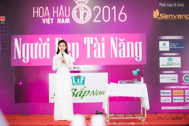 Phần thi tài năng đặc biệt của thí sinh Hoa hậu Việt Nam 2016 - Ảnh 1.