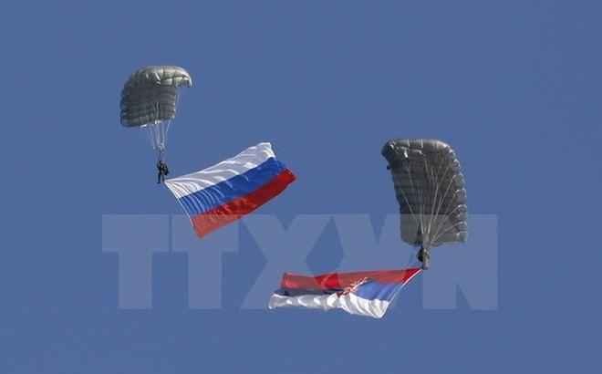 Lính dù Nga tham gia các cuộc tập trận quốc tế trong năm 2017