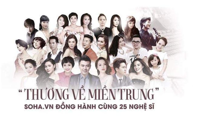 25 nghệ sĩ góp mặt trong đêm diễn mở màn Hướng về miền Trung tại Hà Nội