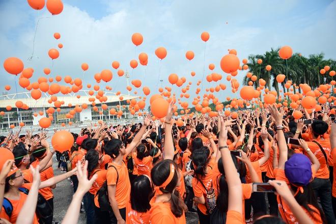 Hàng ngàn sinh viên xuống đường đi bộ vì nạn nhân da cam - Ảnh 11.