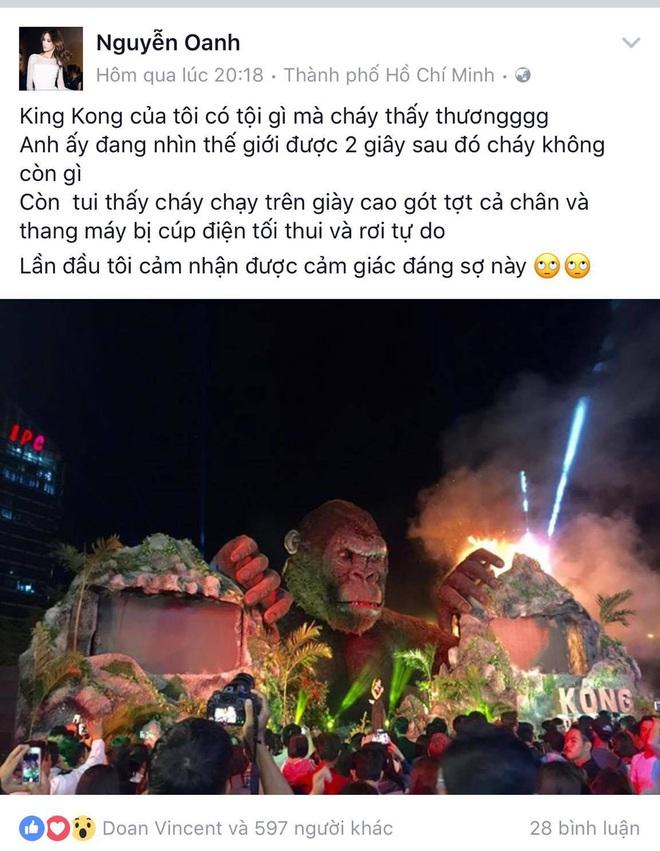 """Vụ cháy sân khấu """"Kong: Skull Island"""": Nguyễn Oanh sốc khi thang máy rơi tự do - Ảnh 4."""