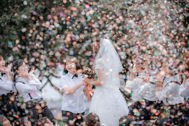 Sự thật về cô dâu duy nhất xuất hiện trong bộ ảnh kỷ yếu gây bất ngờ - ảnh 7