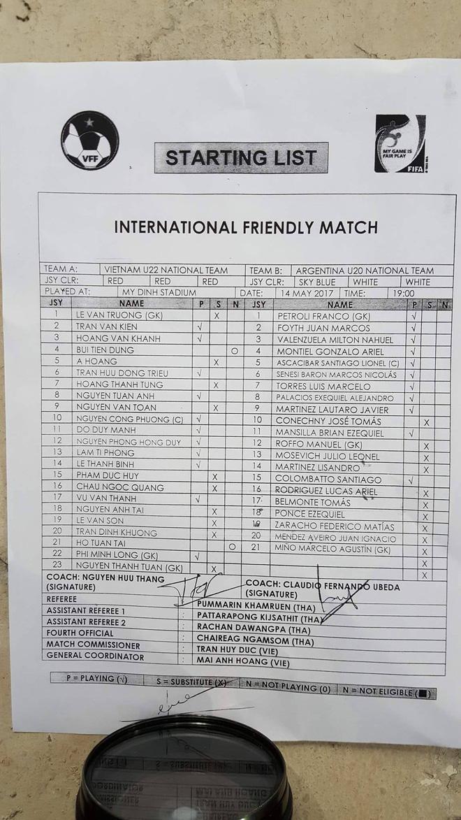 Trực tiếp U22 Việt Nam 0-2 U20 Argentina: U20 Argentina liên tiếp ghi siêu phẩm - Ảnh 6