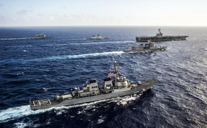 """Mỹ-Nhật-Ấn tạo vòng tròn liên minh bao vây, Trung Quốc như """"ngồi trên chảo lửa"""""""