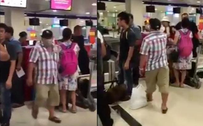 [Video nóng] Diễn viên nổi tiếng Việt cãi cọ lớn tiếng tại sân bay