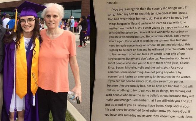 """Mẹ xin lỗi con gái trong bức thư cuối đời, dặn dò """"hãy luôn tỉnh táo"""""""