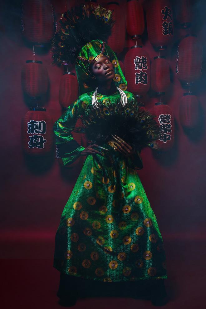 Người mẫu Châu Phi gây ấn tượng mạnh với áo dài Việt - Ảnh 2.