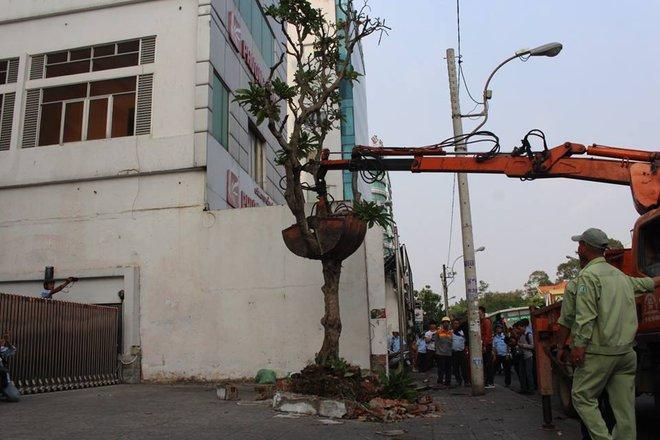 Quận 1 đập bỏ bồn cây, bức tường gần tòa nhà Bộ Công Thương - Ảnh 4.