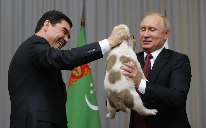 24h qua ảnh: Tổng thống Putin vui mừng khi được tặng chó cưng