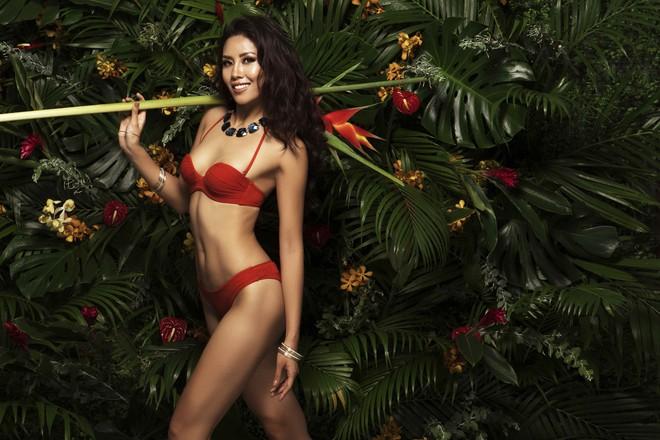 Nguyễn Thị Loan tung ảnh bikini bốc lửa trước chung kết Hoa hậu Hoàn vũ Thế giới - Ảnh 1.