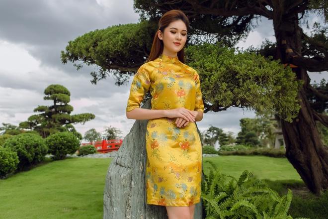 Á hậu Thùy Dung đầy cuốn hút khi khoe dáng với áo dài - Ảnh 8.