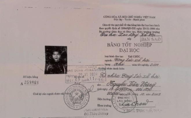 Tạm đình chỉ công tác Phó chủ tịch xã dùng bằng đại học giả ở Hà Nội