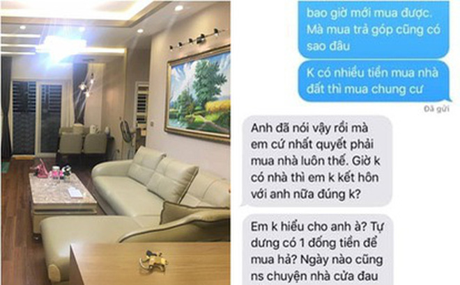 """Cô gái đòi người yêu """"phải mua nhà Hà Nội rồi mới cưới, chẳng ai ở nhà thuê cả đời"""" khiến dân mạng tranh cãi"""