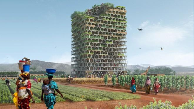 Bí mật tòa nhà chọc trời, có khả năng di chuyển và cứu đói hàng trăm người 1