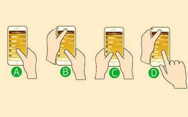 Bạn thường cầm điện thoại theo kiểu nào? Hãy chọn và xem kết quả