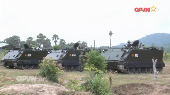 Việt Nam tích hợp cối 100 mm cho thiết giáp M113, đưa pháo cao xạ lên xe bánh xích M548 - Ảnh 1.