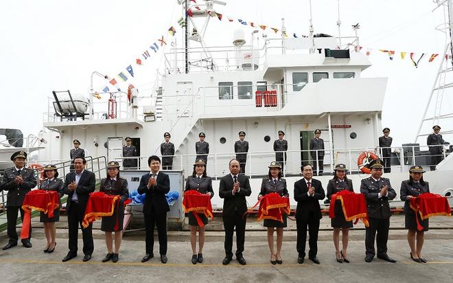 Hình ảnh tàu kiểm ngư hiện đại Nhật Bản vừa trao tặng Việt Nam - Ảnh 4.