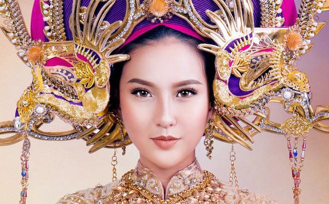 Cận cảnh trang phục dân tộc lộng lẫy của Khánh Ngân tại cuộc thi Hoa hậu Hoàn cầu 2017