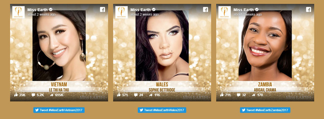 Hoa hậu Trái đất 2017: Hà Thu dẫn đầu bình chọn Gương mặt ăn ảnh - Ảnh 1.