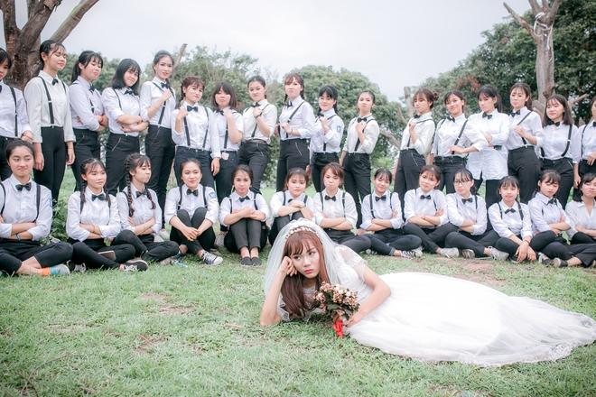 Sự thật về cô dâu duy nhất xuất hiện trong bộ ảnh kỷ yếu gây bất ngờ - ảnh 2