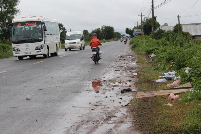 Hiện trường vụ tai nạn ở Tây Ninh.