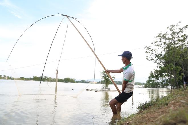 Ảnh: Hàng trăm cần thủ kiếm bộn cá trên dòng sông lũ ở Hà Nội - Ảnh 7.