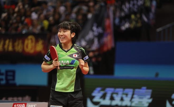 Cô gái Nhật 17 tuổi lật đổ thế thống trị của bóng bàn Trung Quốc