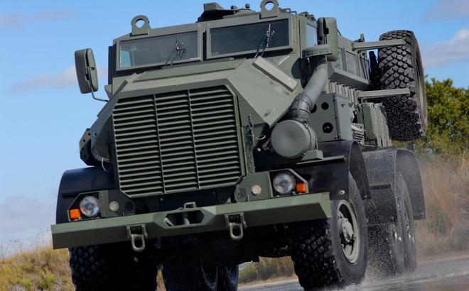 Chiếc xe thiết giáp kháng mìn gây ấn tượng mạnh bởi bề ngoài dữ tợn