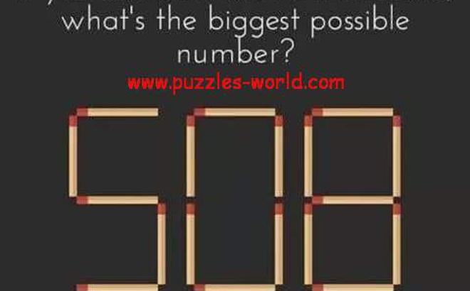 Câu đố que diêm đơn giản nhưng đáp án lại không hề giản đơn!