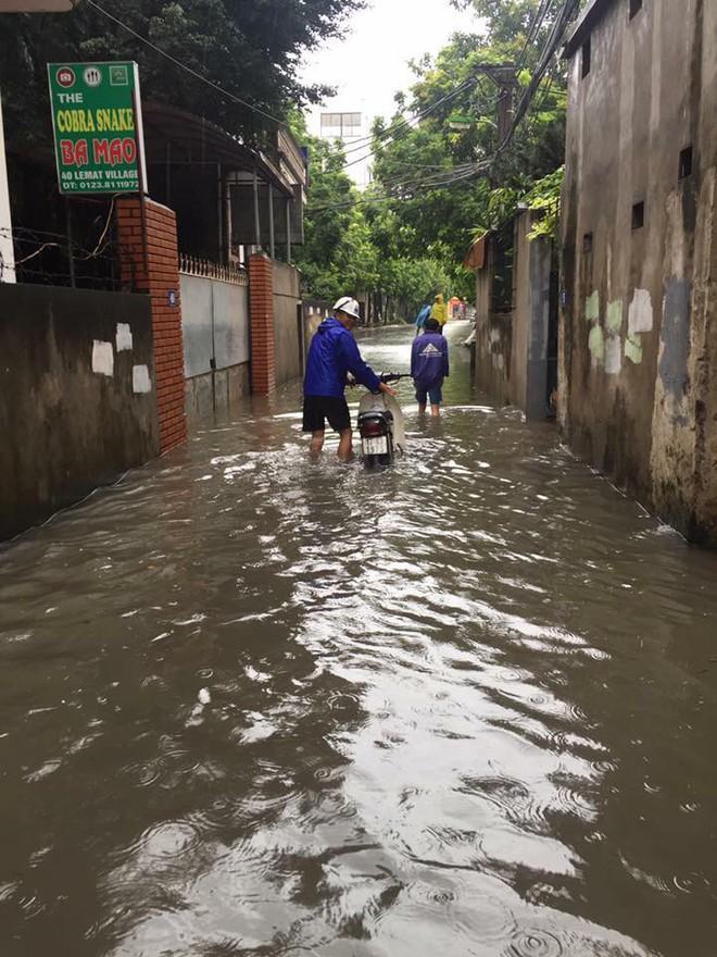 Hà Nội: Hàng loạt phương tiện chết máy trong mưa lớn - Ảnh 10.