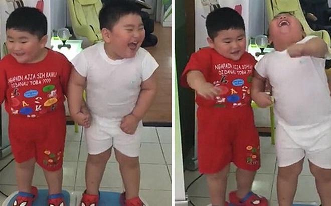 Hai cậu bé ẵm triệu view chỉ với đoạn clip đứng... rung lắc trên máy tập ...