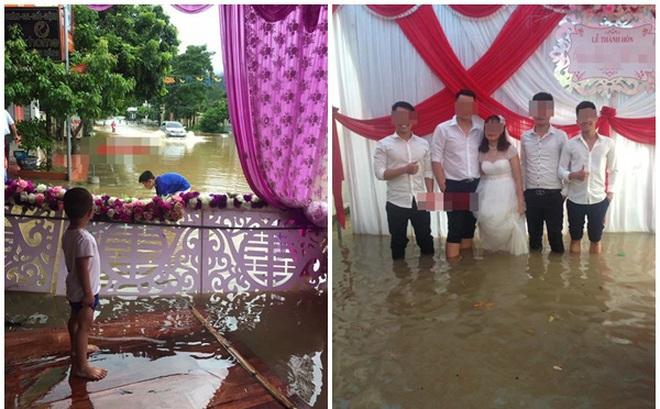 Hình ảnh các đám cưới trong ngày mưa bão khiến người ta chạnh lòng