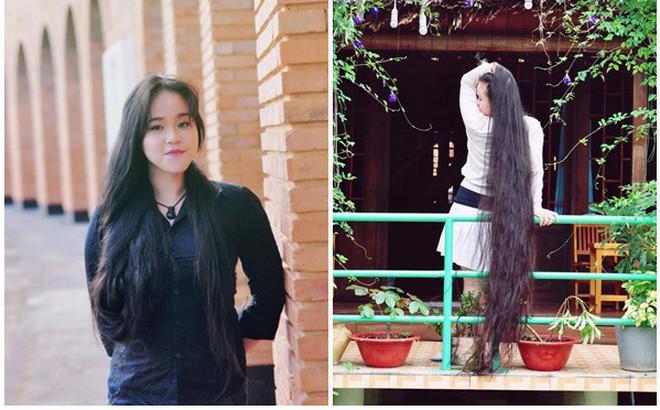 Cô gái Sài Gòn nuôi tóc dài 2m kiếm tiền triệu nhờ clip khoe tóc trên Youtube