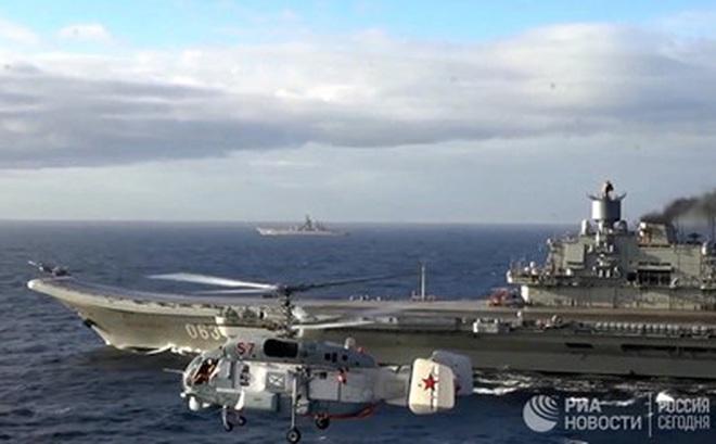 [ẢNH] Khoảnh khắc đẹp của tàu sân bay Nga tham chiến ở Syria