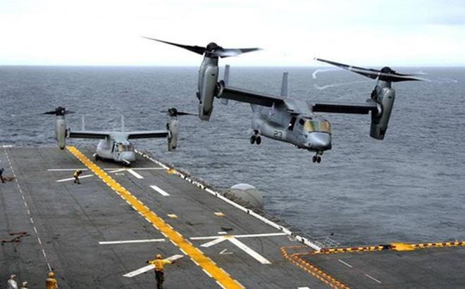 Hải quân Mỹ trang bị nhiều trực thăng cánh quạt nghiêng hiện đại