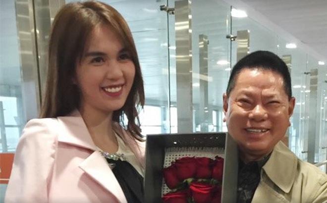 Tỷ phú Hoàng Kiều tặng hoa hồng, đón Ngọc Trinh ở sân bay