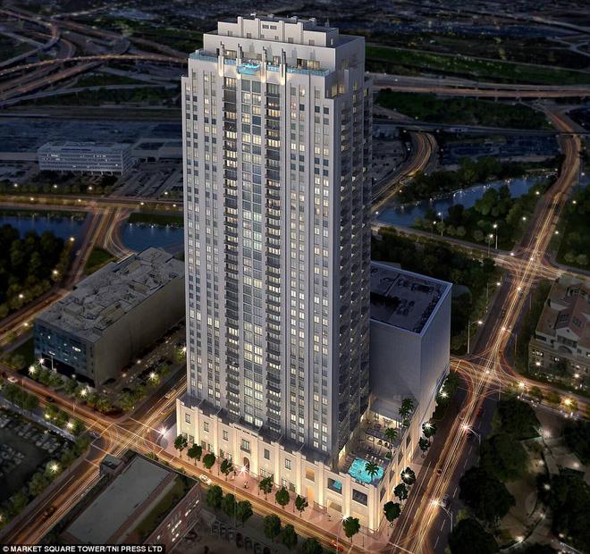 Bể bơi xuyên thấu trên đỉnh tòa nhà 42 tầng thách thức những người sợ độ cao - Ảnh 4.