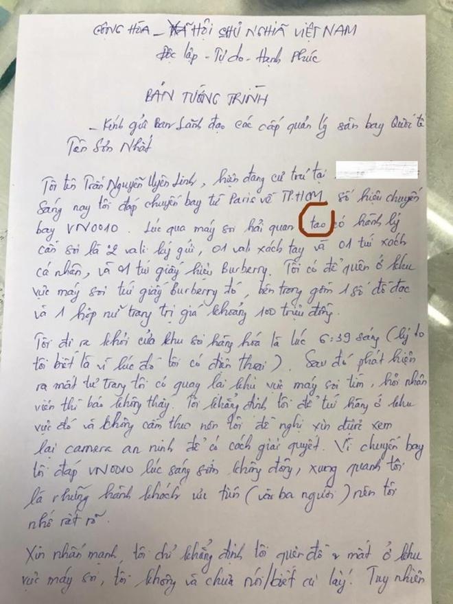 Uyên Linh mất đồ ở sân bay, xưng tao với cơ quan chức năng khi làm tường trình - Ảnh 2.