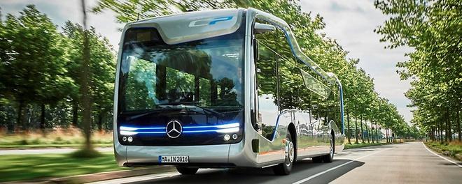 """Chiếc xe buýt tự lái """"bước ra từ phim viễn tưởng"""" của Mercedes - Ảnh 1."""