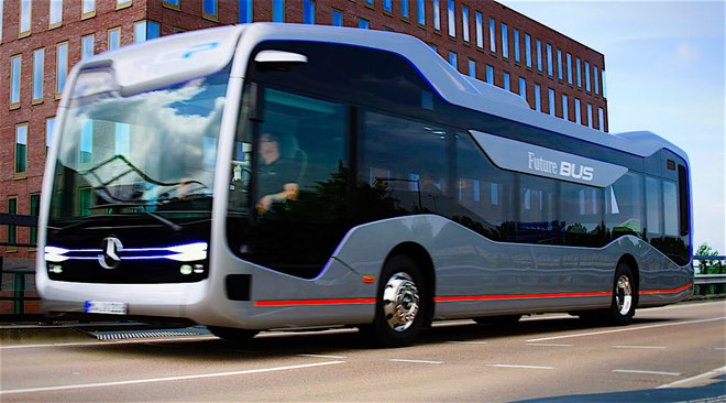 """Chiếc xe buýt tự lái """"bước ra từ phim viễn tưởng"""" của Mercedes - Ảnh 3."""