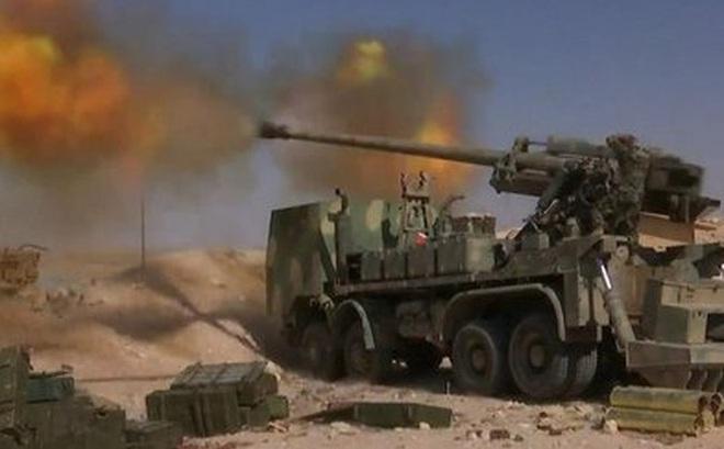 Pháo tự hành tung hoành trên chiến trường Syria